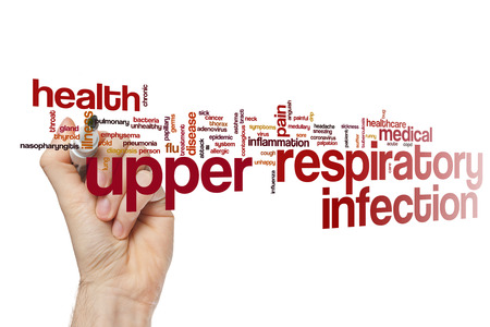 Upper respiratory infection word cloud concept Stock Photo