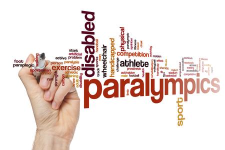 paraplegico: Paralympics nube de palabras