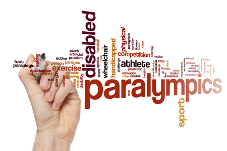 Paralympics word cloud