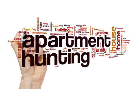 Apartment hunting word cloud concept
