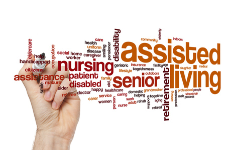 assisted living: Assisted living word cloud concept