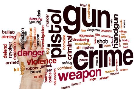 Gun crime word cloud Stock Photo