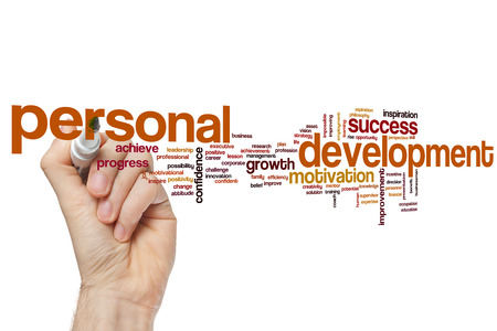 personal perspective: Personal development word cloud Stock Photo