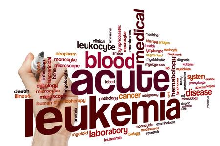 leucemia: Acute leukemia word cloud concept