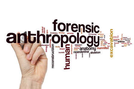 Forensic anthropology word cloud concept