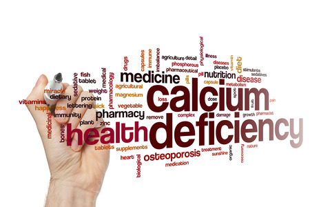 calcium: Calcium deficiency word cloud concept