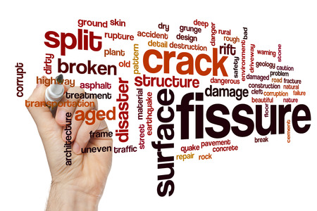 Fissure word cloud concept Stock Photo