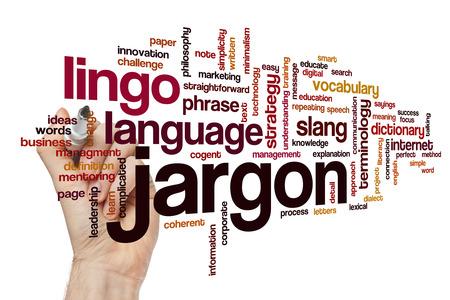 jargon: Jargon word cloud concept