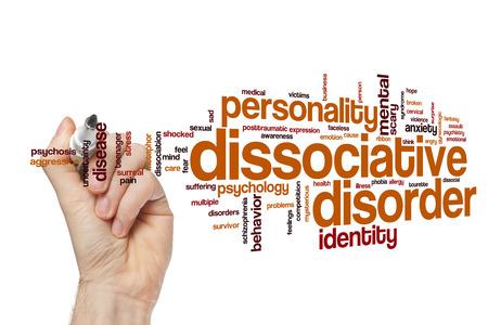 desorden: trastorno disociativo nube de palabras