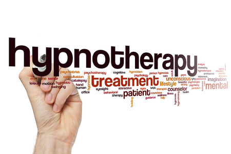 Hypnotherapie word cloud concept Stockfoto