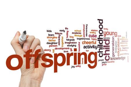 offspring: Offspring concepto de nube de palabras Foto de archivo