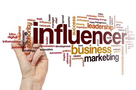 influencer: Influencer word cloud Stock Photo