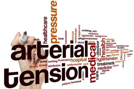 tension: Arterial tension word cloud concept