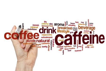 Caffeine word cloud concept