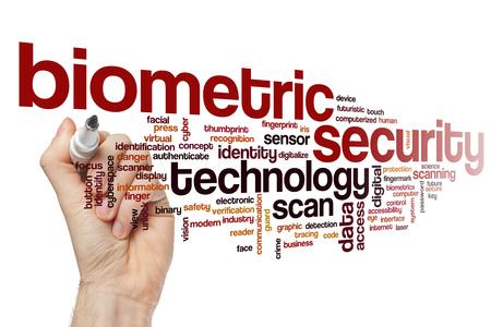 biometric: Biometric security word cloud concept
