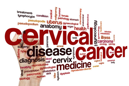 cervicales: palabra cáncer cervical concepto de la nube