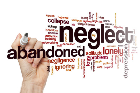 neglect: Neglect word cloud concept Stock Photo
