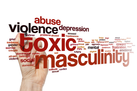 Toxic masculinity word cloud concept
