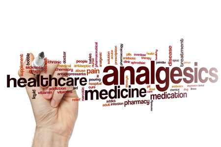 analgesics: Analgesics word cloud concept