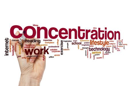 concentration: Concentration word cloud concept