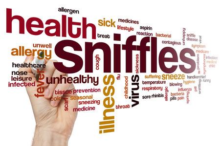 sniffles: Sniffles word cloud concept