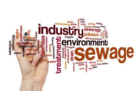 Sewage word cloud Stock Photo