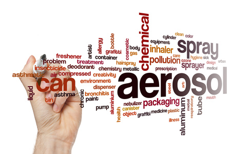 aerosol: Aerosol word cloud concept
