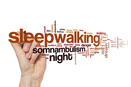 Sleepwalking word cloud