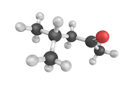 3d structure of Methyl isobutyl ketone, an organic compound. It is a colourless liquid, a ketone, and is used as a solvent for gums, resins, paints, varnishes, lacquers, and nitrocellulose.
