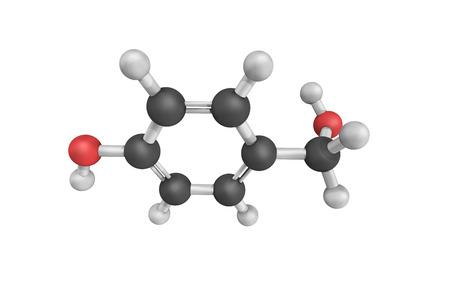 3d structure of P-Methylolphenol.