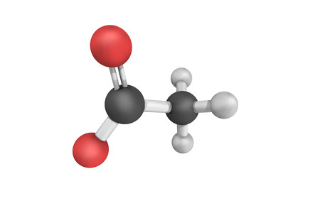 acetic acid: 3d structure of Acetate, a salt formed by the combination of acetic acid with an alkaline, earthy, or metallic base.