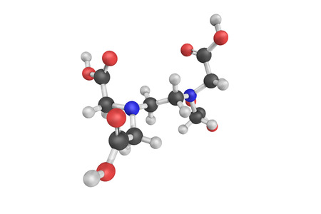 acetic acid: 3d structure of Edtacal, also known as Calcium disodium EDTA, with Edetic Acid as an active ingredient.