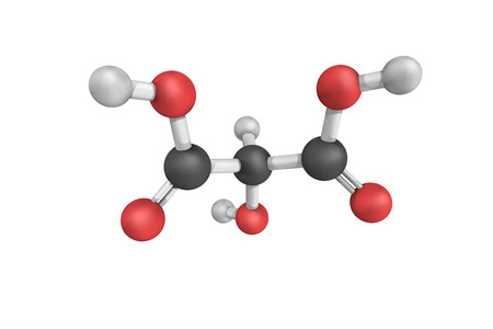 3d structure of Tartronic acid, best known as a reactant in the catalytic oxidation with air to form mesoxalic acid, another type of hydroxydicarboxylic acid.