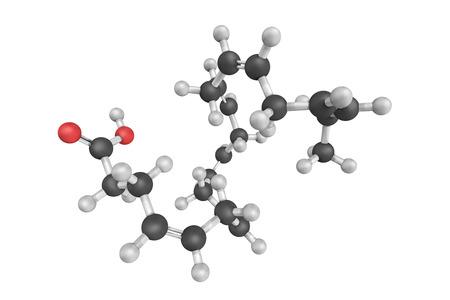 testiculos: 3d estructura de ácido docosahexaenoico (DHA), un ácido graso omega-3 que es un componente estructural primario del cerebro humano, la corteza cerebral, la piel, el esperma, los testículos y la retina. Foto de archivo