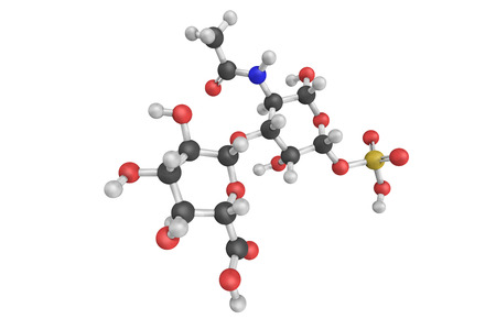 gag: 3d structure of Chondroitin sulfate, a sulfated glycosaminoglycan (GAG) composed of a chain of alternating sugars. It is usually found attached to proteins as part of a proteoglycan.