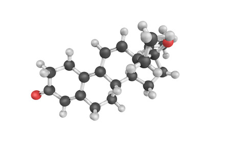 progesterone: 3d structure of Tetrahydrogestrinone (THG), an anabolic steroid developed. It has affinity to the androgen receptor and the progesterone receptor, but not to the estrogen receptor.