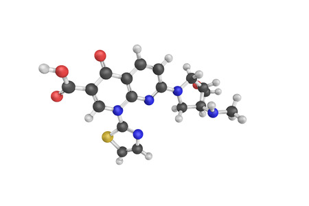 leucemia: 3d structure of Vosaroxin, a topoisomerase II inhibitor causing site-selective DNA damage.