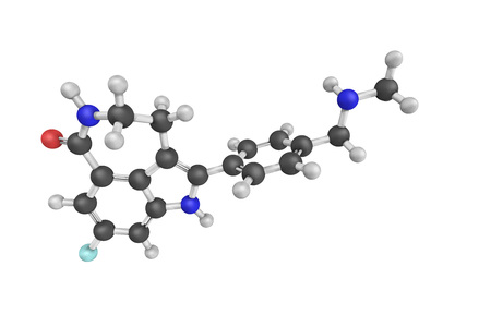 oral cancer: 3d structure of Rucaparib, a PARP inhibitor being investigated as a potential anti-cancer agent.