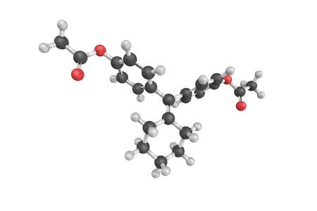 Cyclofenil, a selective estrogen receptor modulator (SERM) used as a gonadotropin stimulant.