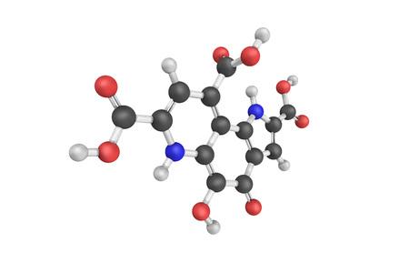 Pyrroloquinoline quinone (PQQ), reduced to pyrroloquinoline quinol (PQQH2) by vitamin C.