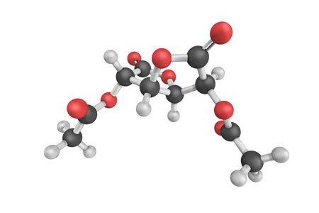 Aceglatone, an antineoplastic drug available in Japan. It is an inhibitor of the enzyme beta-glucuronidase. Stock Photo