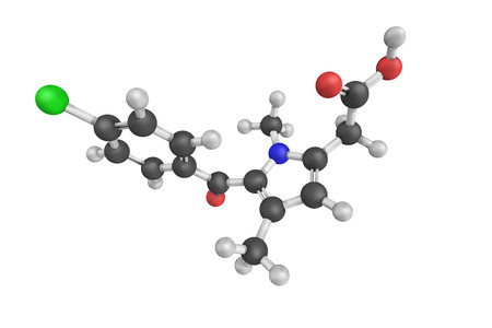 Zomepirac, an orally effective non-steroidal anti-inflammatory drug that has antipyretic actions. Stock Photo