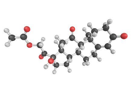 Cortisone, a pregnane steroid hormone. One of the main hormones released by the adrenal gland in response to stress.