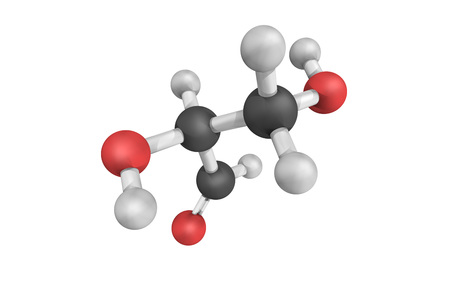 Glyceraldehyde (glyceral), a sweet, colorless, crystalline solid that is an intermediate compound in carbohydrate metabolism. It is the simplest of all common aldoses.