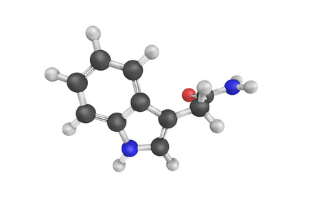 synthesis: Indoleacetamide, a synthesis reactant also known as 3-Indoleacetamide. Stock Photo