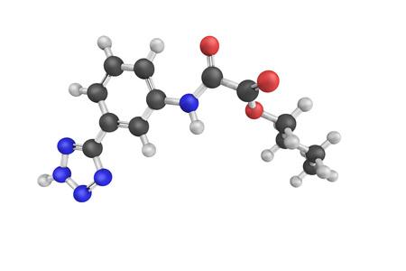 Tazanolast, a selective mast-cell-stabilizing drug. 3d model.