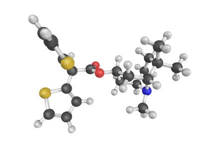 anticholinergic: Mazaticol (Pentona), an anticholinergic used as an antiparkinsonian agent in Japan. Stock Photo