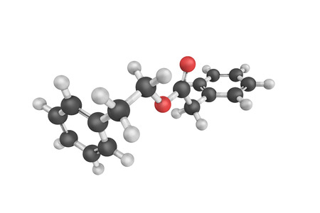 additional chemicals: Phenethyl Phenylacetate, also known as Benzeneacetic acid, a flavor and fragrance agent. Stock Photo