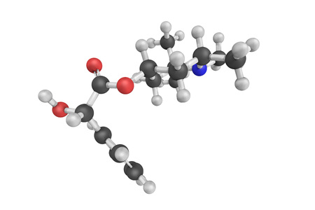 synthesis: Eucatropine hydrochloride, a biochemical carbohydrate. 3d model.