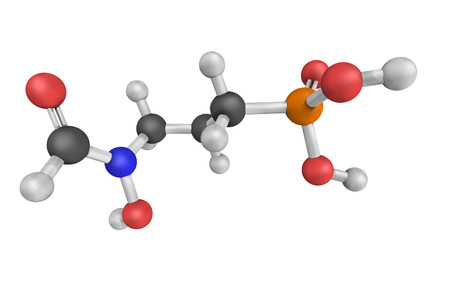 biosynthesis: Fosmidomycin, an antibiotic used in anti-malarial drugs, originally isolated from culture broths of bacteria of the genus Streptomyces. Stock Photo